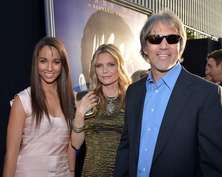 Michelle with hubby David E. Kelley and their daughter, Claudia, at the L.A. premiere of