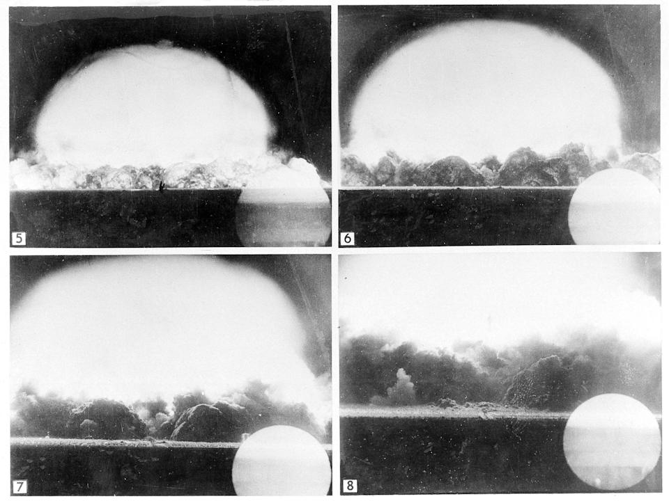 Images of the first US atomic bomb test in 1945.