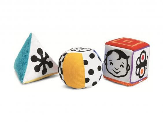 These bright blocks are a mix of texture and sound to engage their senses (Hamleys)