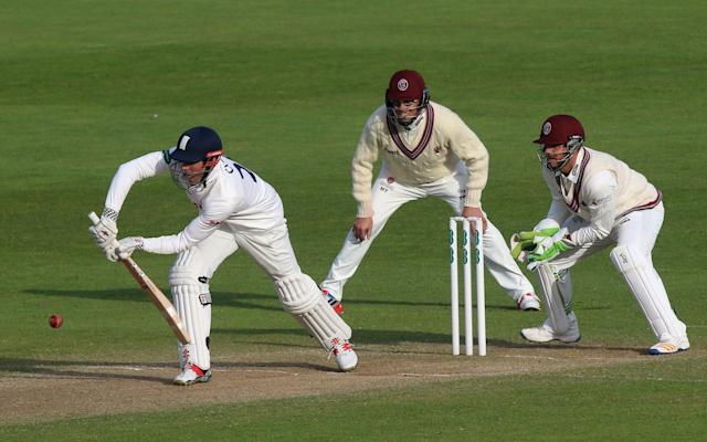 <span>Cook battled against the spin</span> <span>Credit: Rex Features </span>
