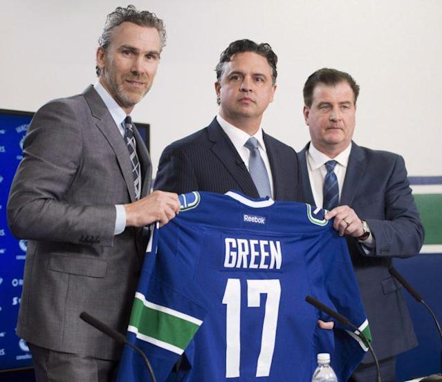 The Vancouver Canucks promoted Travis Green from the American Hockey League's Utica Comets, and put the franchise's retooling in his hands. (THE CANADIAN PRESS/Jonathan Hayward)