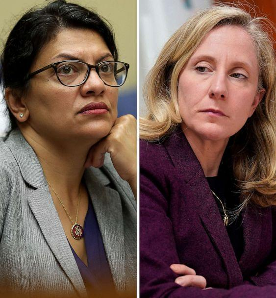 PHOTO: Rep. Rashida Talib and Rep. Abigail Spanberger in a composite photo, 2020. (Getty Images, FILE)