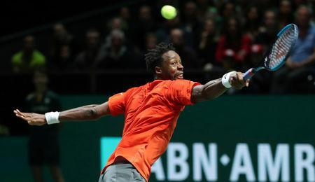 Tennis - ATP 500 - Rotterdam Open - Rotterdam Ahoy, Rotterdam, Netherlands - February 17, 2019 France's Gael Monfils in action during his Final match against Switzerland's Stan Wawrinka REUTERS/Yves Herman