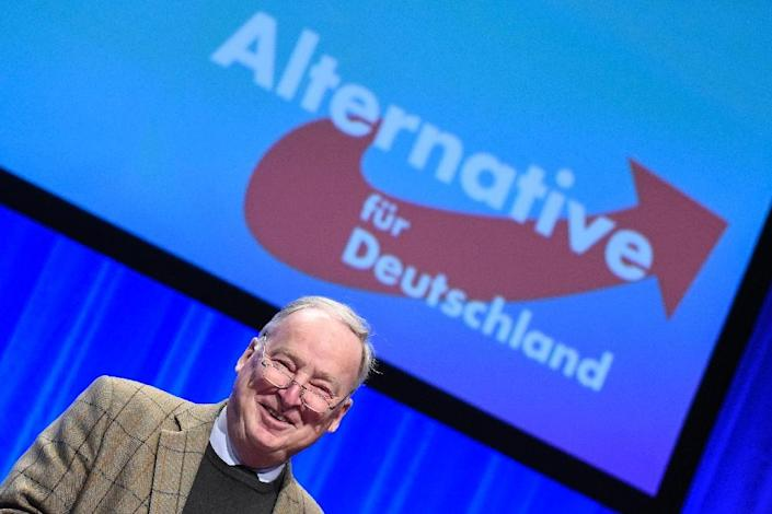 Alexander Gauland, pictured at a party congress for the right wing AfD (Alternative fur Deutschland) on April 30, 2016 (AFP Photo/Philipp Guelland)