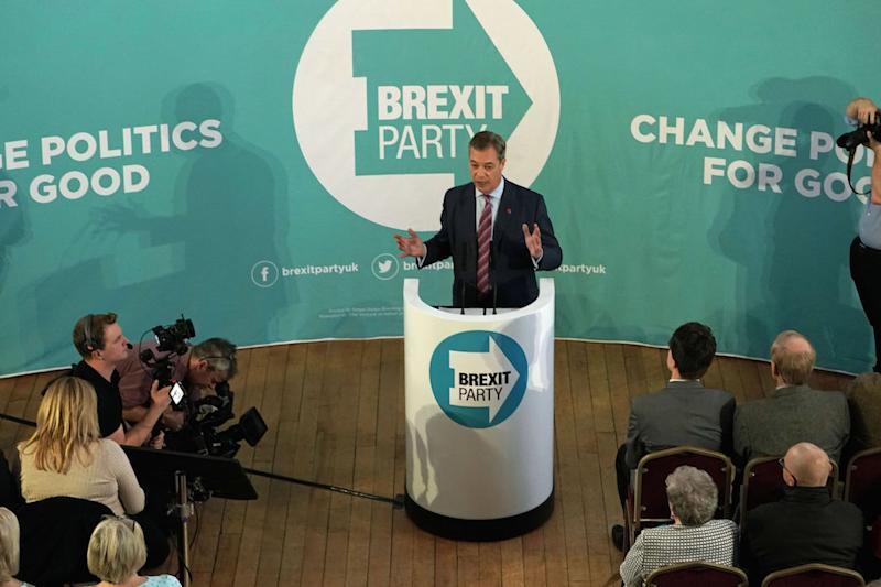 Brexit Party won't stand in Tory seats - Farage