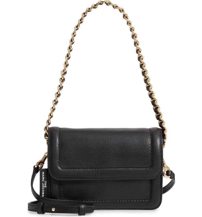 <p>I love that this <span>The Marc Jacobs The Mini Cushion Leather Shoulder Bag</span> ($395) has two easy-to-use straps.</p>