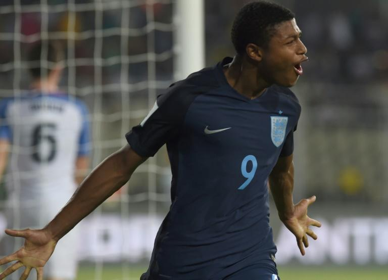 Rhian Brewster of England was visibly irate at the end of Liverpool's 2-0 win over Spartak in the UEFA Youth League and had to be restrained by team-mates and coaching staff