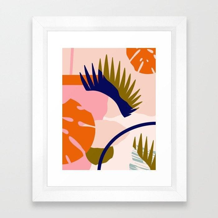 "<p>Add a pop of color to your space with this <span>""Tropical Island II"" Framed Art Print by Grace</span> ($34, originally $43).</p>"
