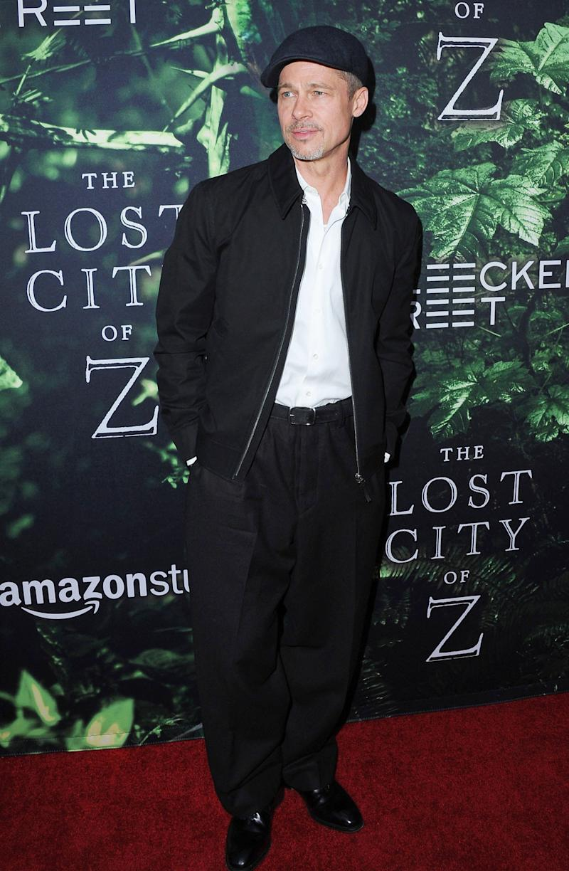Brad Pitt Took a Break From Sculpture to Wear Baggy Pants to a Premiere