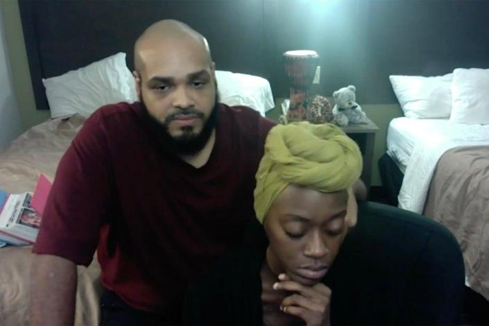 <p>Raymond Sykes and Kaila Boulware, a couple from New Jersey, have been reunited with their son.</p> (Kaila Boulware)
