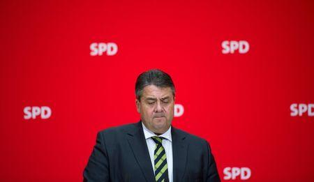 German Vice Chancellor and Economy Minister Sigmar Gabriel addresses the media in Berlin
