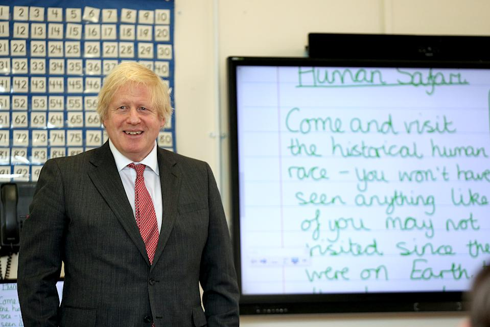 Boris Johnson outlined the five-tiered coronavirus alert system in his address to the nation on May 10. (PA)