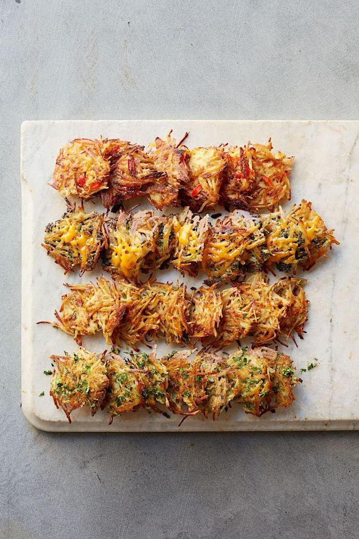 """<p>You probably have most of the ingredients for these baked hash browns in your kitchen already. And you can make them ahead of time and just reheat for 10 minutes before serving. </p><p><em><a href=""""https://www.womansday.com/food-recipes/food-drinks/recipes/a39631/smoky-red-pepper-hash-browns-recipe-ghk0514/"""" rel=""""nofollow noopener"""" target=""""_blank"""" data-ylk=""""slk:Get the Smoky Red Pepper Hash Browns recipe."""" class=""""link rapid-noclick-resp"""">Get the Smoky Red Pepper Hash Browns recipe.</a></em></p>"""