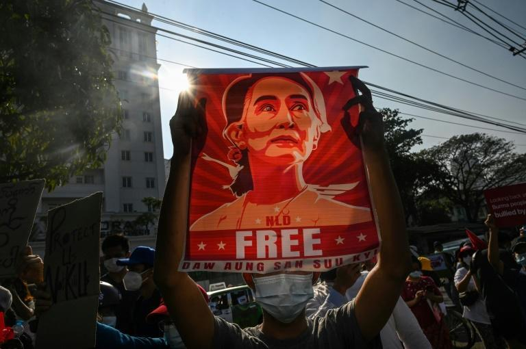 Myanmar has been in turmoil since Aung San Suu Kyi and her elected government were ousted in a military coup (AFP/STR)