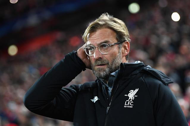 Jurgen Klopp during the UEFA Champions League group E match between Liverpool FC and NK Maribor at Anfield on November 1, 2017 in Liverpool, United Kingdom.