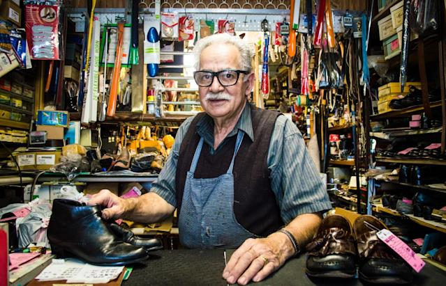 <p>No. 8 lowest-paid job: Shoe repairer and shoemaker<br>Average full-time hourly wage: $13.65<br>(Fran Polito / Getty Images) </p>