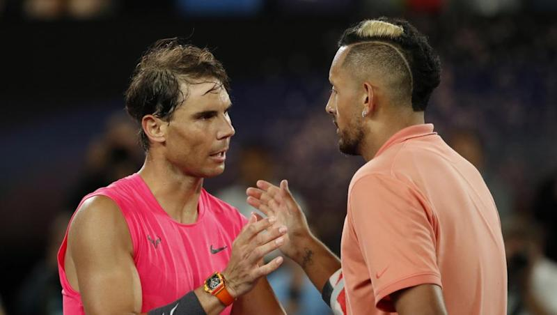 Nadal overcomes Kyrgios to reach quarter-finals at Australian Open