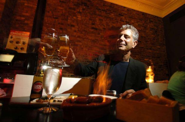 PHOTO: Anthony Bourdain has a drink at Tintol restaurant in Times Square. (New York Daily News Archive/NY Daily News via Getty Images)