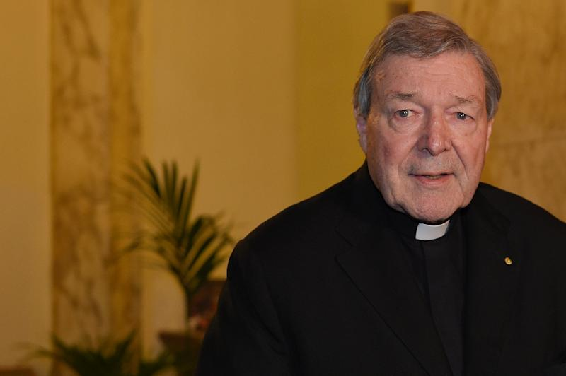 Cardinal Pell, Australia's most senior Catholic cleric, was interviewed in Rome by Australian detectives last October over the assault claims, which he has strenuously denied (AFP Photo/ANDREAS SOLARO)