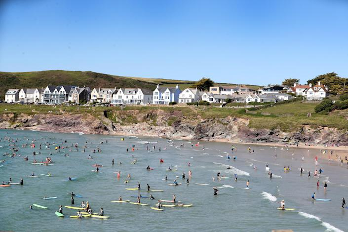 Devon and Cornwall Police said the prolonged hot weather has seen people travel to the area in droves. (PA)