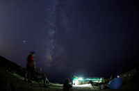 <p>People in Dwerja, Malta, watch as meteors no bigger than a grain of sand speed across the sky at 36 miles a second. </p>