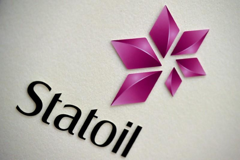 The company logo of Statoil is seen during a company results presentation in London