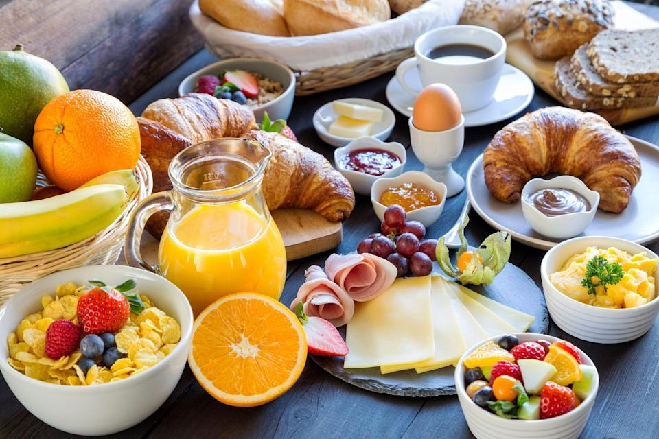 German breakfast, called frühstück, is quite the spread, with a variety of offerings, including meats, cheese, spreads like marmalades, Nutella and honey as well as a soft-boiled egg.