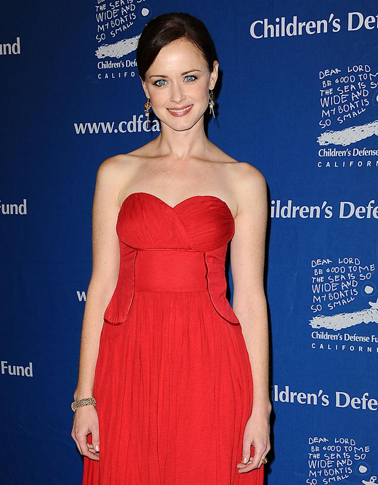 "BEVERLY HILLS, CA - DECEMBER 06:  Actress Alexis Bledel attends the Children's Defense Fund's 22nd annual ""Beat the Odds"" Awards at the Beverly Hills Hotel on December 6, 2012 in Beverly Hills, California.  (Photo by Jason LaVeris/FilmMagic)"