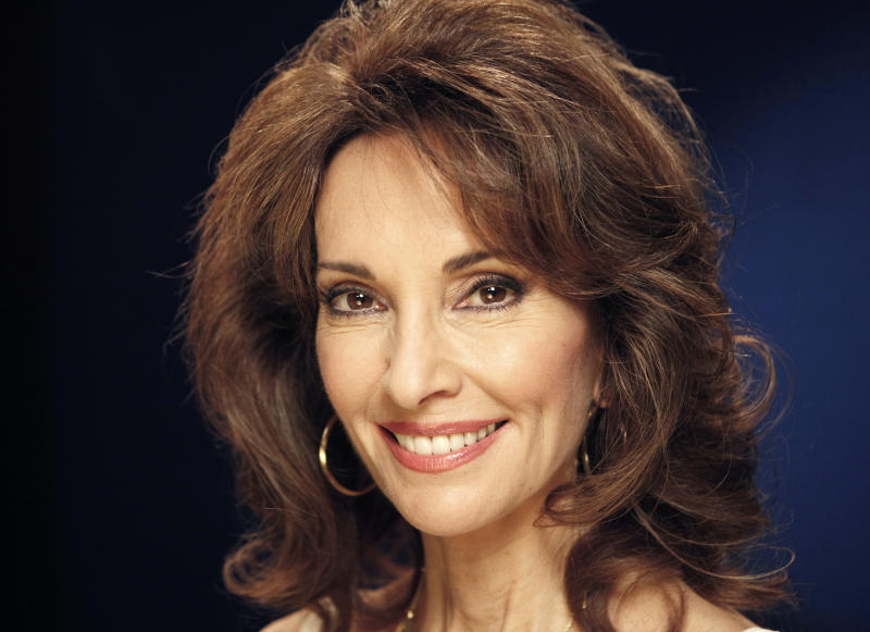 "FILE - In this March 28, 2011 file photo, actress Susan Lucci from ""All My Children,"" poses for a portrait in New York.  Lucci is the author of a new memoir titled ""All My Life.""  (AP Photo/Jeff Christensen, file)"
