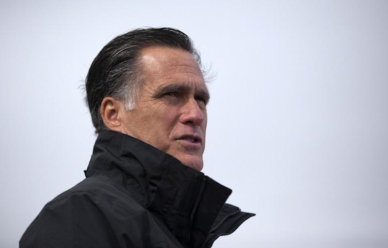 Republican presidential candidate, former Massachusetts Gov. Mitt Romney speaks during a campaign rally, Tuesday, Oct. 9, 2012, in Van Meter, Iowa.  (AP Photo/ Evan Vucci)