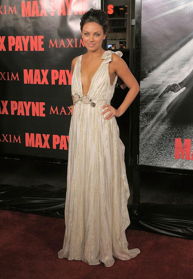 "<a href=""http://movies.yahoo.com/movie/contributor/1800281432"">Mila Kunis</a> at the Los Angeles premiere of <a href=""http://movies.yahoo.com/movie/1810007086/info"">Max Payne</a> - 10/13/2008"