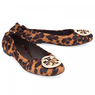 Calf Hair Ballerinas by Tory Burch: Flat Shoes for the Weekend