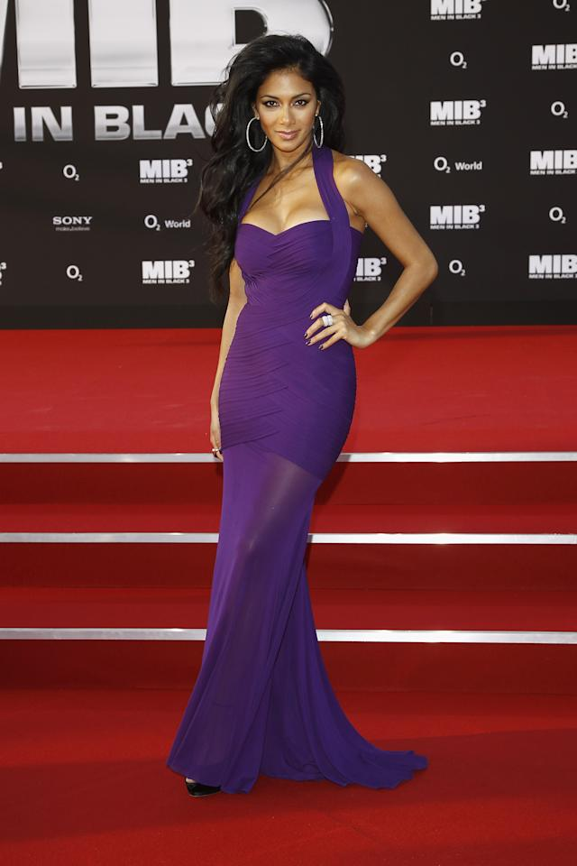 BERLIN, GERMANY - MAY 14:  Nicole Scherzinger arrives for the Men In Black 3 - Germany Premiere at O2 World on May 14, 2012 in Berlin, Germany.  (Photo by Andreas Rentz/Getty Images)