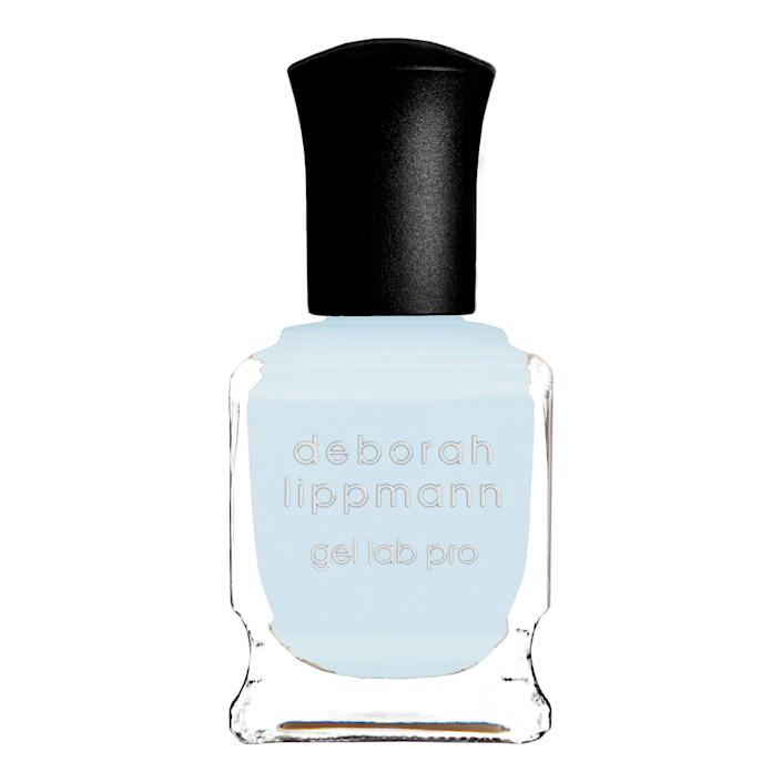 "<p>A cool baby blue is what Miss Pop calls ""chill vibes in a bottle."" She loves the Deborah Lippmann Gel Lab Pro polish in Above the Clouds, which has a formula that dries with full opacity in as little as one coat.</p> <p><strong>$20</strong> (<a href=""https://shop-links.co/1721340088645624111"" rel=""nofollow noopener"" target=""_blank"" data-ylk=""slk:Shop Now"" class=""link rapid-noclick-resp"">Shop Now</a>)</p>"