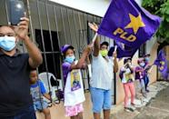 Supporters of presidential candidate Gonzalo Castillo, whose center-left Dominican Liberation Party (PLD) has ruled the Caribbean nation for 16 years