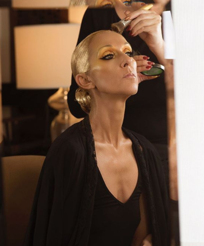 Céline Dion shared this behind-the-scenes snap of her getting ready for the 2019 Met Gala