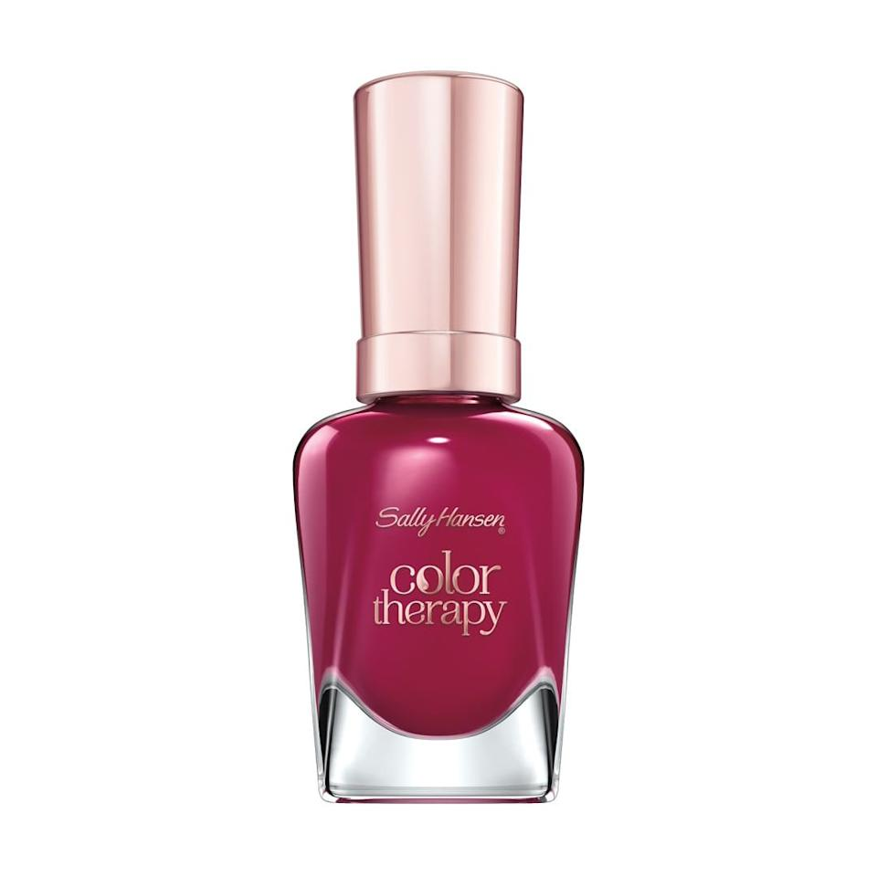 "<p><strong>Sally Hansen Color Therapy Nail Polish in ""Ohm My Magenta""</strong></p> <p>Like late-summer berries bursting at every bite, boysenberry pink is highly pigmented and oh-so vibrant. </p> <p><strong>BUY IT: $6.50; <a href=""http://linksynergy.walmart.com/deeplink?id=93xLBvPhAeE&mid=2149&murl=https%3A%2F%2Fwww.walmart.com%2Fip%2FSally-Hansen-Color-Therapy-Nail-Color-Ohm-My-Magenta%2F123002314&u1=SL%2CRX_1908_TransitionFallNailColors_BoysenberryPink%2Ckyarborough1271%2C%2CIMA%2C628601%2C201908%2CI"" target=""_blank"">walmart.com</a></strong></p>"