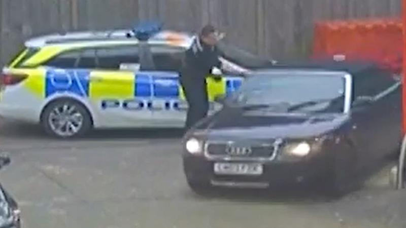 Police chase after motorist spotted asleep at petrol station