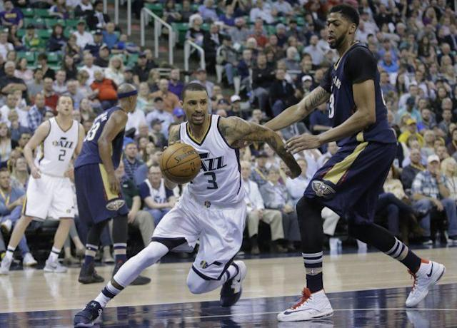 "<a class=""link rapid-noclick-resp"" href=""/nba/players/4488/"" data-ylk=""slk:George Hill"">George Hill</a> gives the Kings a veteran presence at the point. (AP)"