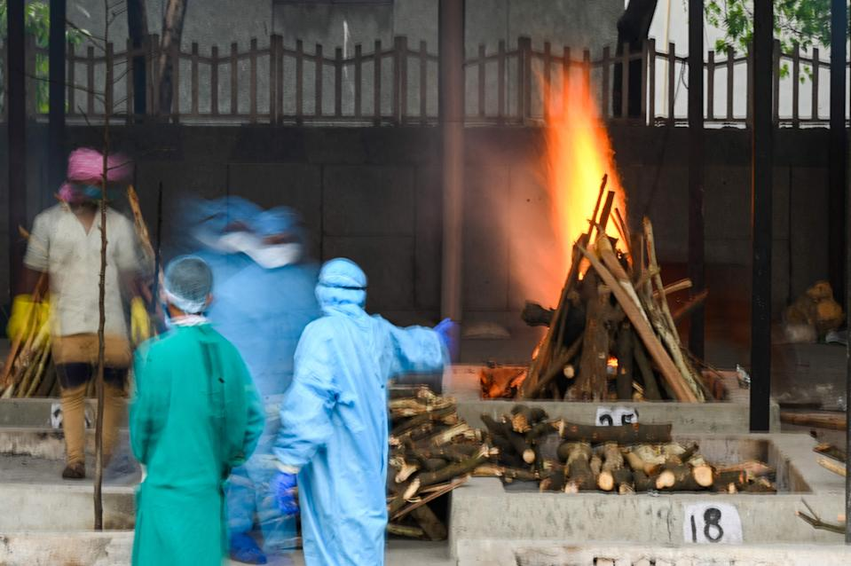 Hospitals and crematoria are overflowing in IndiaAFP via Getty Images