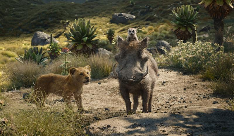 """Featuring the voices of JD McCrary as Young Simba, Billy Eichner as Timon and Seth Rogen as Pumbaa, Disney's """"The Lion King"""" is directed by Jon Favreau. 