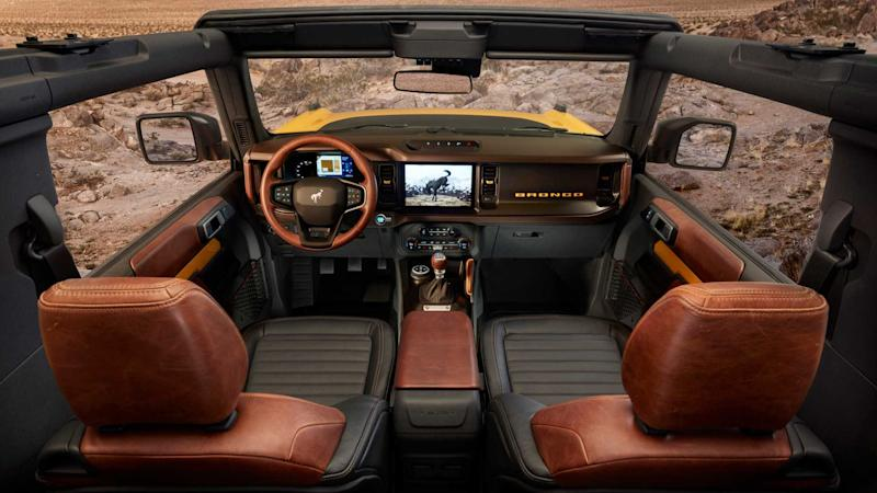 2021 Ford Bronco interior whole view