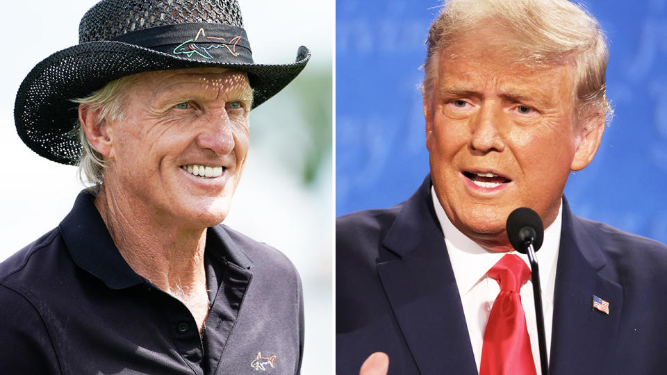 Greg Norman and Donald Trump, pictured here in 2020.