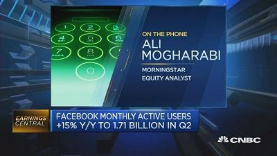 Facebook knocked it out of the ballpark in Q2, but its management did highlight that revenue growth will slow in H2, says Morningstar's Ali Mogharabi.