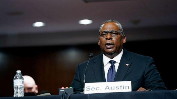 PHOTO: Defense Secretary Lloyd Austin speaks during a Senate Armed Services Committee hearing on the conclusion of military operations in Afghanistan and plans for future counterterrorism operations, Sept. 28, 2021, in Washington. (Patrick Semansky/AP)