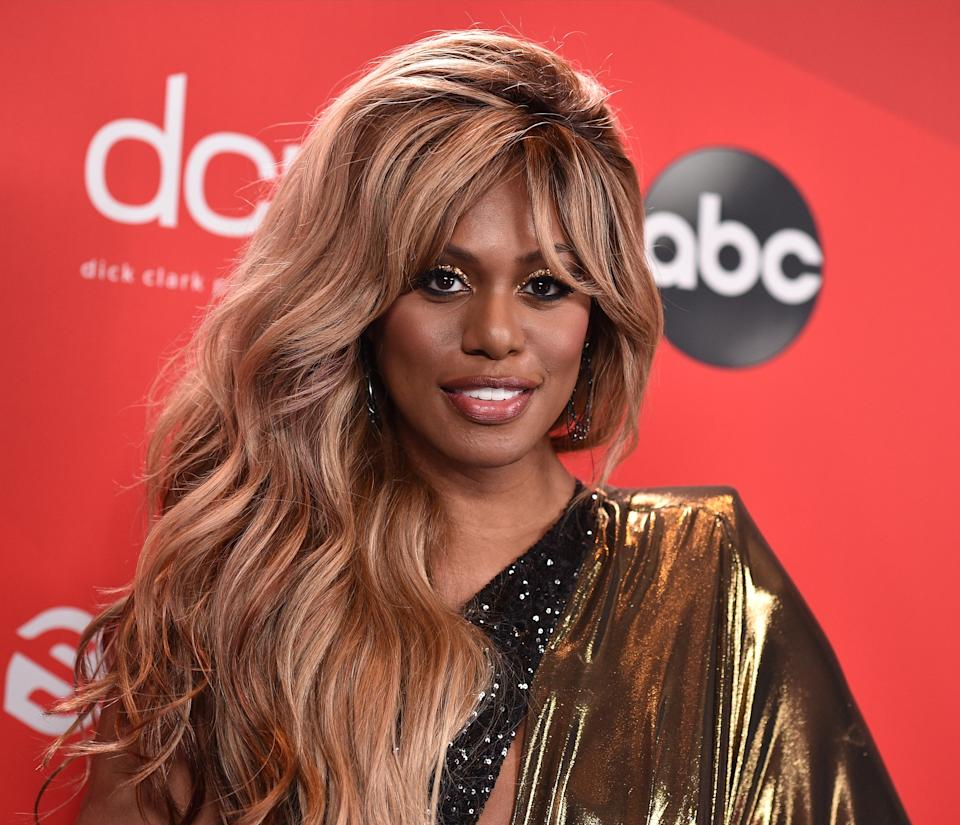 Laverne Cox, seen here at the 2020 American Music Awards, has spoken out forcefully against deadnaming. (Photo: ABC via Getty Images)