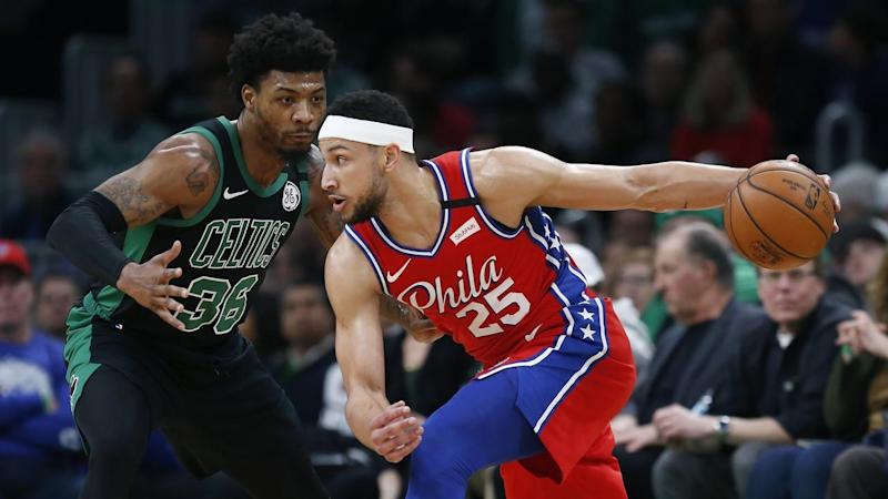Ben Simmons led Philadelphia in points, rebounds and assists but the 76ers still lost to Boston