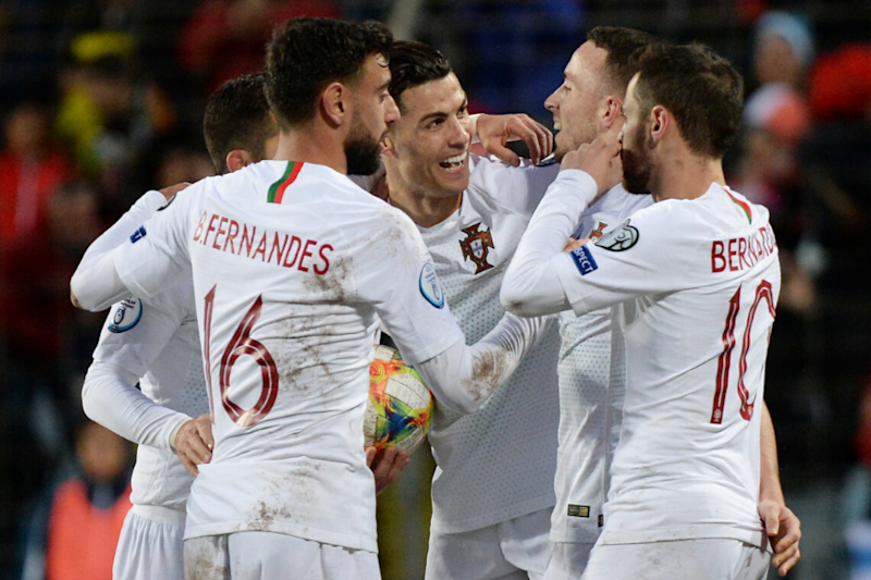 Cristiano Ronaldo Scores 99th International Goal as Portugal Seal Euro 2020 Qualification