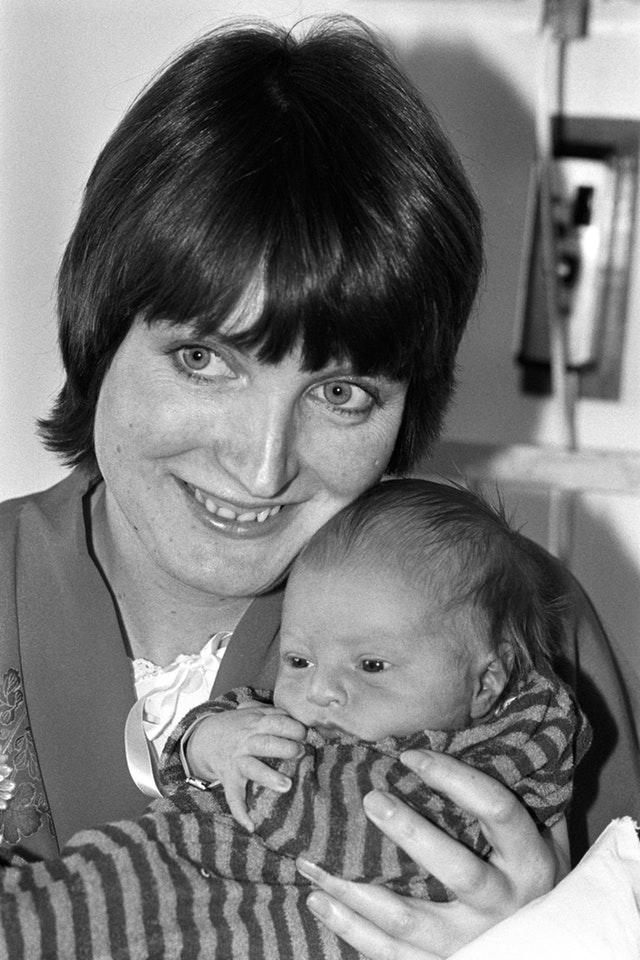 Harriet Harman and son
