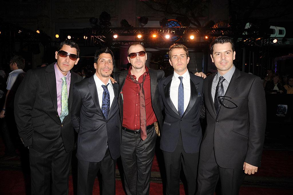"""NKOTB's Jonathan, Danny, Donnie, Joey, and Jordan pop a pose before entering the star-studded event. George Pimentel/<a href=""""http://www.wireimage.com"""" target=""""new"""">WireImage.com</a> - June 15, 2008"""